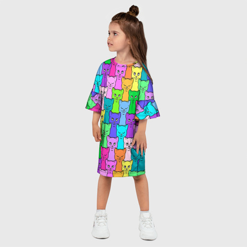 Детское платье 3D  Фото 03, Котятушки