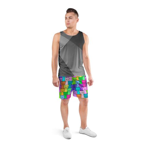 Мужские шорты 3D спортивные Котятушки