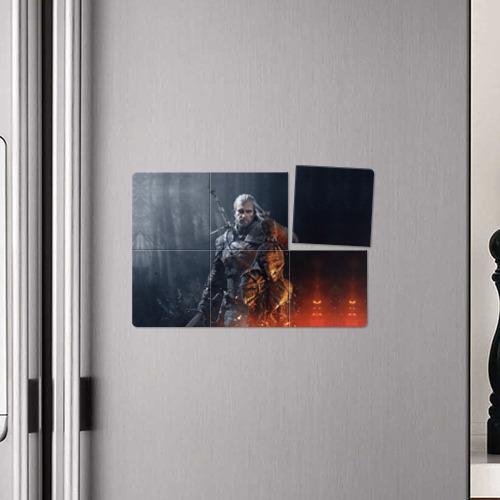 Магнитный плакат 3Х2 Геральт из Ривии Фото 01