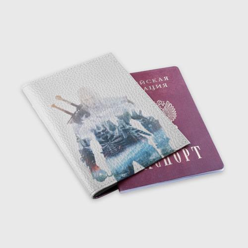 Обложка для паспорта матовая кожа Геральт Охота Фото 01
