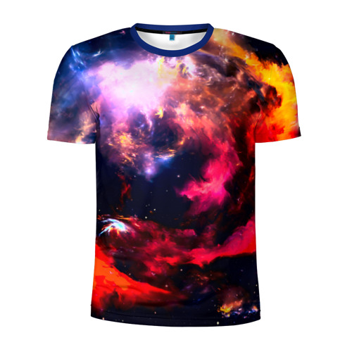 Мужская футболка 3D спортивная Космос