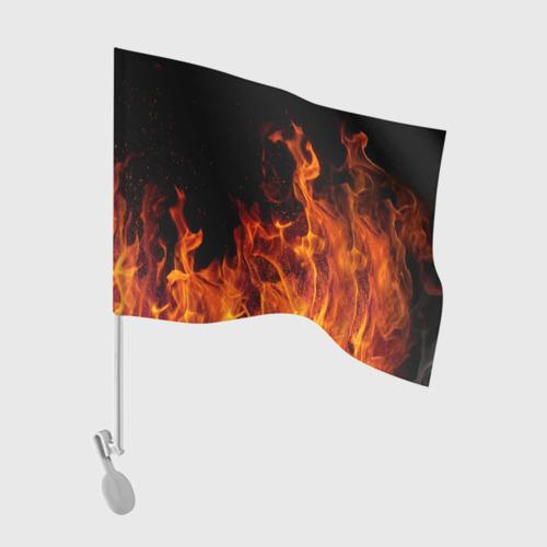 Флаг для автомобиля Огонь Фото 01