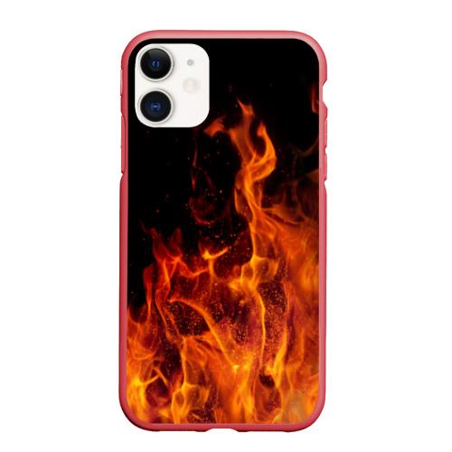 Чехол для iPhone 11 матовый Огонь Фото 01