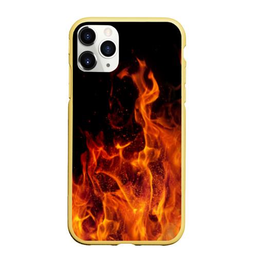 Чехол для iPhone 11 Pro матовый Огонь Фото 01