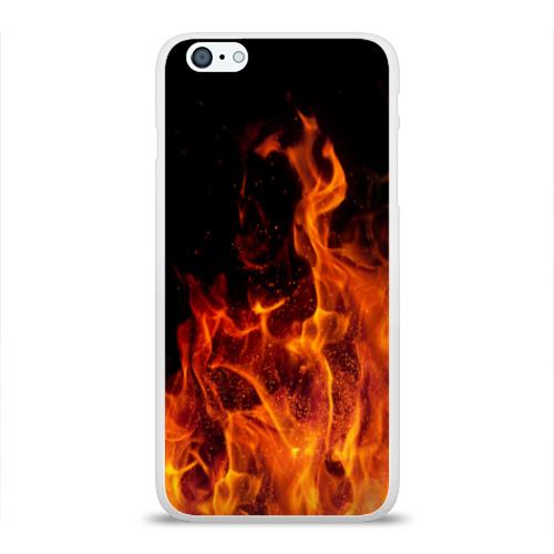 Чехол для iPhone 6/6S Plus глянцевый Огонь Фото 01