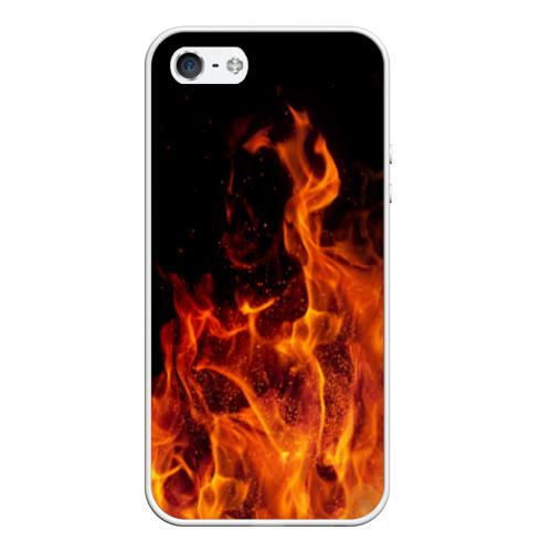 Чехол для iPhone 5/5S матовый Огонь Фото 01