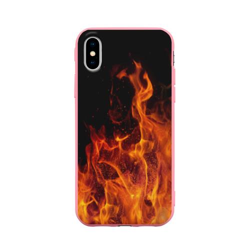 Чехол для iPhone X матовый Огонь Фото 01