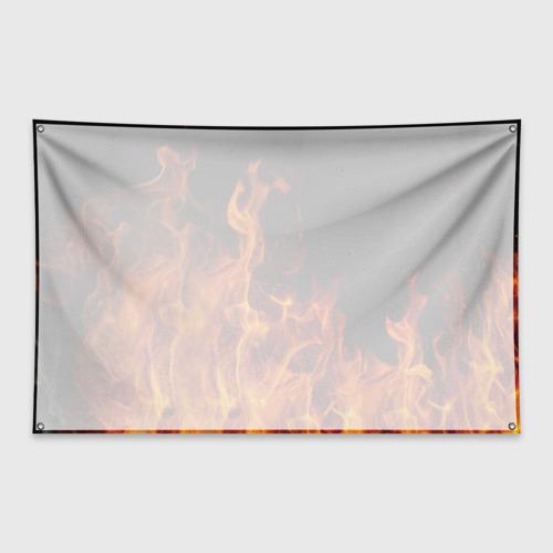 Флаг-баннер Огонь Фото 01