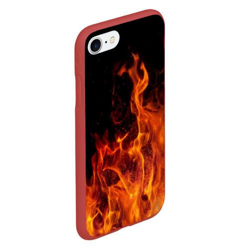Чехол для iPhone 7/8 матовый Огонь Фото 01