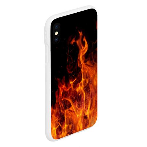 Чехол для iPhone XS Max матовый Огонь Фото 01