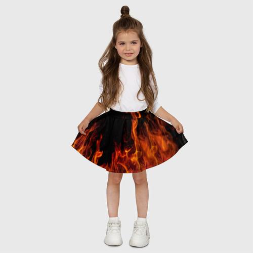 Детская юбка-солнце 3D Огонь Фото 01