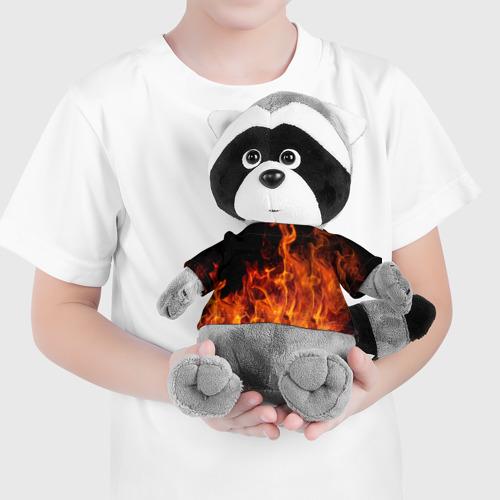 Енотик в футболке 3D Огонь Фото 01