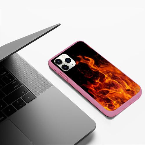 Чехол для iPhone 11 Pro Max матовый Огонь Фото 01