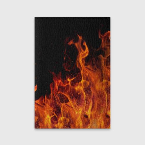 Обложка для паспорта матовая кожа Огонь Фото 01