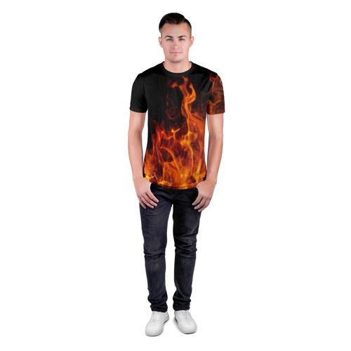Мужская футболка 3D спортивная  Фото 04, Огонь