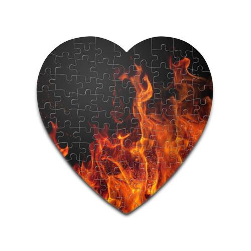 Пазл сердце 75 элементов Огонь от Всемайки