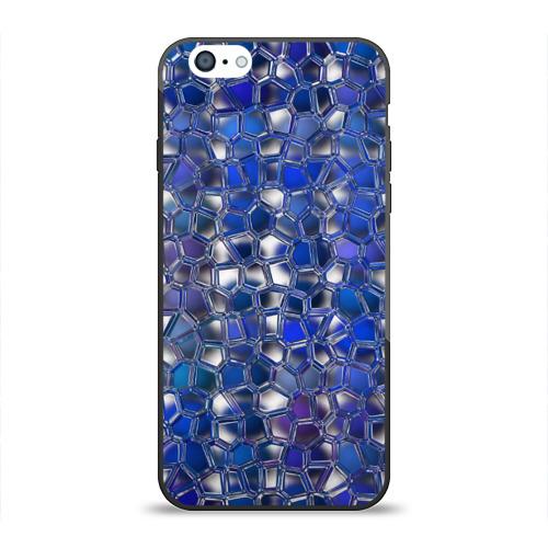 Чехол для Apple iPhone 6 силиконовый глянцевый Синяя мозаика от Всемайки