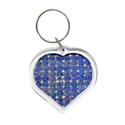 Брелок сердце Синяя мозаика от Всемайки