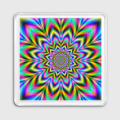 Магнит 55*55  Фото 01, Красочная иллюзия