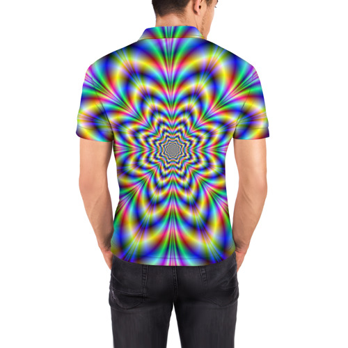 Мужская рубашка поло 3D  Фото 04, Красочная иллюзия