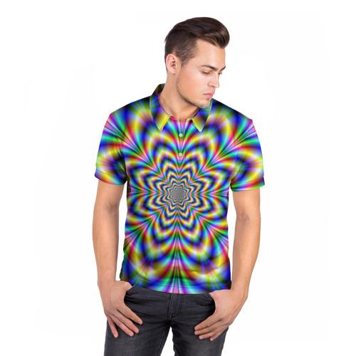 Мужская рубашка поло 3D  Фото 05, Красочная иллюзия