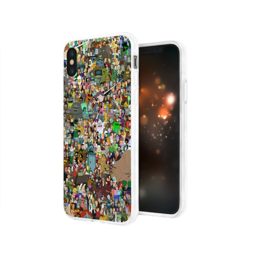 Чехол для Apple iPhone X силиконовый глянцевый  Фото 03, Футурама