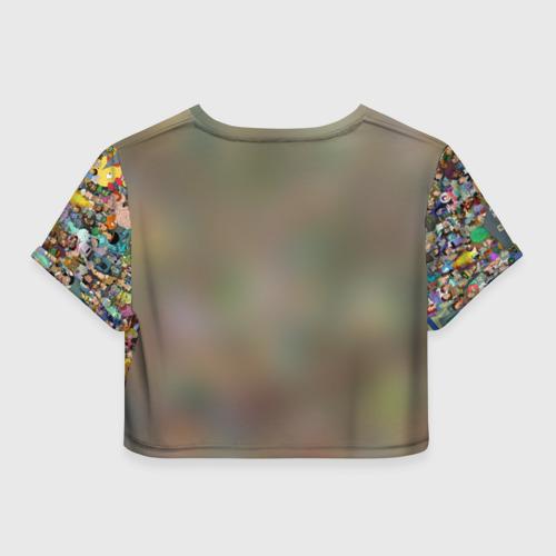 Женская футболка 3D укороченная  Фото 02, Футурама