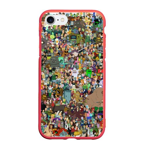 Чехол для iPhone 7/8 матовый Футурама Фото 01