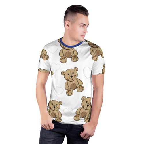 Мужская футболка 3D спортивная  Фото 03, Плюшевые мишки