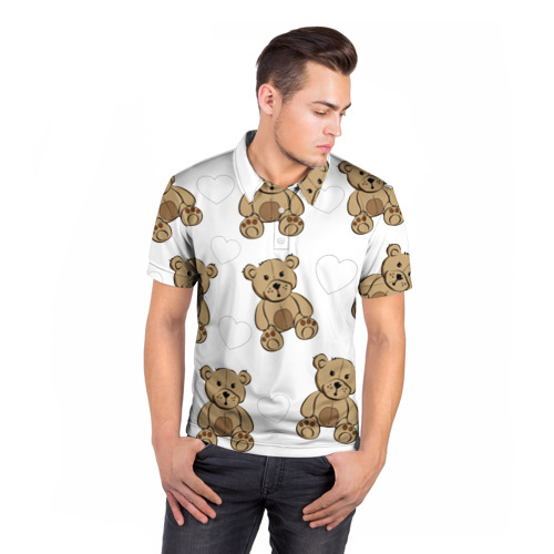 Мужская рубашка поло 3D  Фото 05, Плюшевые мишки