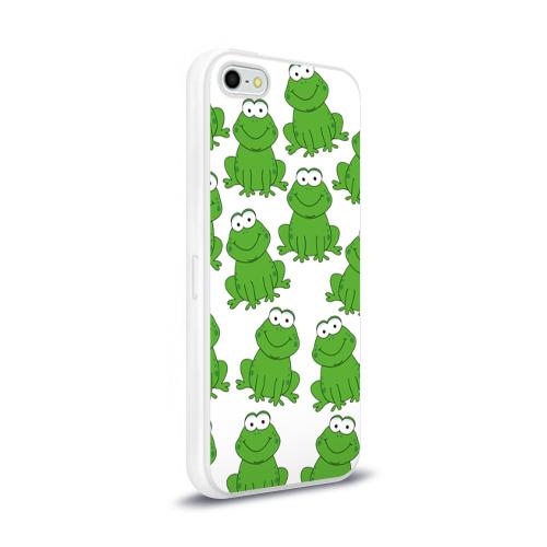 Чехол для Apple iPhone 5/5S силиконовый глянцевый  Фото 02, Лягушки