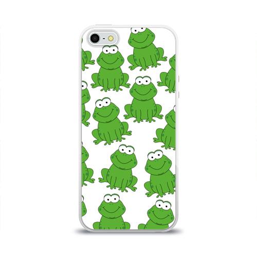 Чехол для Apple iPhone 5/5S силиконовый глянцевый  Фото 01, Лягушки