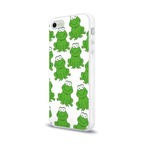 Чехол для Apple iPhone 5/5S силиконовый глянцевый  Фото 03, Лягушки