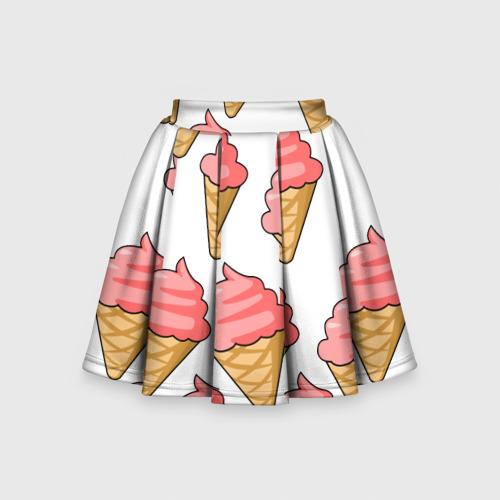 Детская юбка-солнце 3D Мороженки