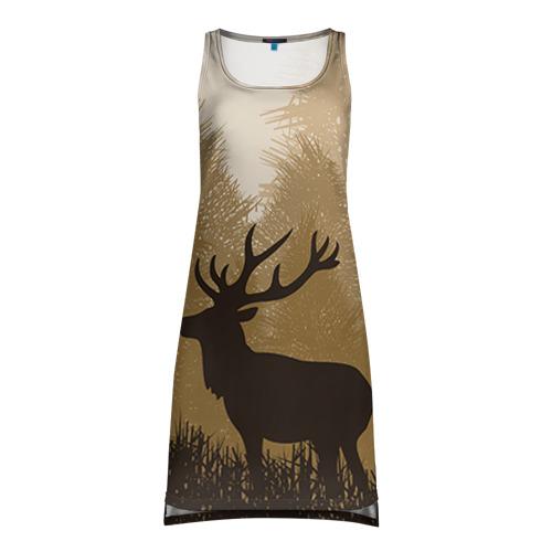 Платье-майка 3D Олень