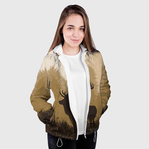 Женская куртка 3D Олень Фото 01