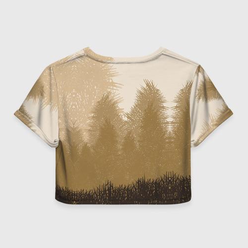 Женская футболка 3D укороченная  Фото 02, Олень