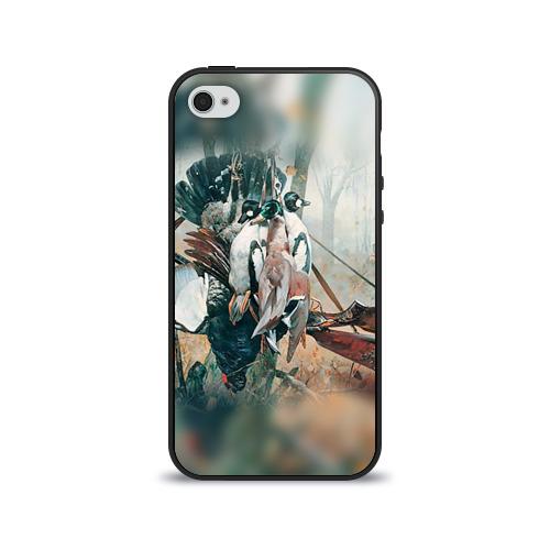 Чехол для Apple iPhone 4/4S силиконовый глянцевый Утки