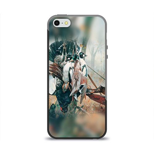 Чехол силиконовый глянцевый для Телефон Apple iPhone 5/5S Утки