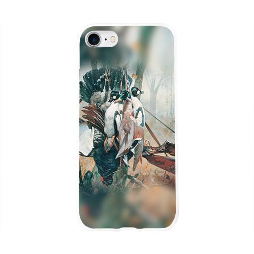 Чехол для Apple iPhone 8 силиконовый глянцевый  Фото 01, Утки