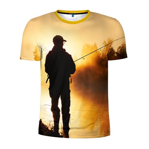 Мужская футболка 3D спортивная Рыбак