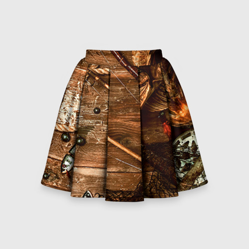 Детская юбка-солнце 3D Рыбацкий стол