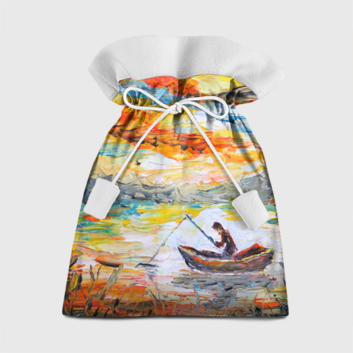 Подарочный 3D мешок Рыбак на лодке