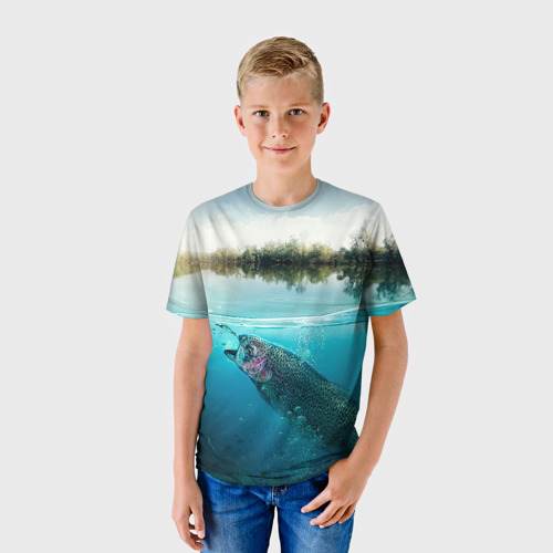 Детская футболка 3D Рыбалка