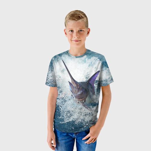 Детская футболка 3D Рыбалка 1