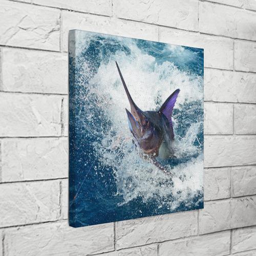 Холст квадратный  Фото 03, Рыбалка 1