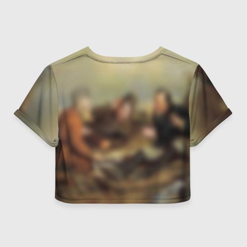 Женская футболка 3D укороченная  Фото 02, Охотники