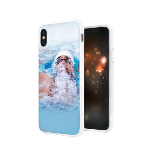 Чехол для Apple iPhone X силиконовый глянцевый  Фото 03, Michael Phelps