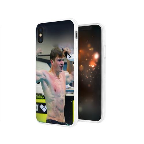 Чехол для Apple iPhone X силиконовый глянцевый  Фото 03, АДАМ ПИТИ