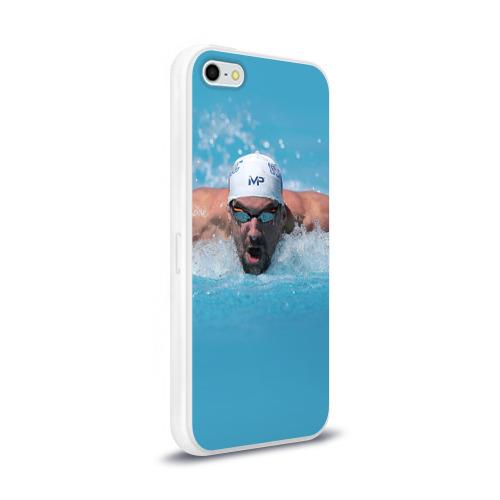 Чехол для Apple iPhone 5/5S силиконовый глянцевый  Фото 02, Michael Phelps